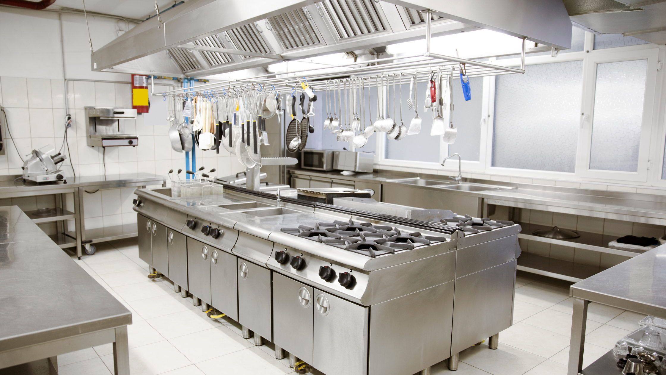 Ghost kitchens like the stainless steel, industrial one photographed, are presenting a huge opportunity for restaurants.